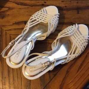 Connie Natalie White wedge sandal